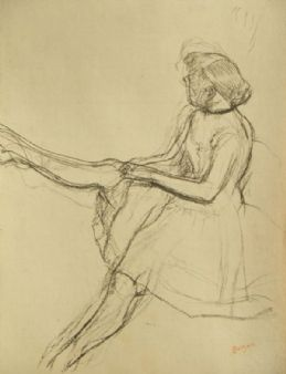 Edgar Degas; signed & stamped antique Ballerina lithograph;1920's Zwemmer London